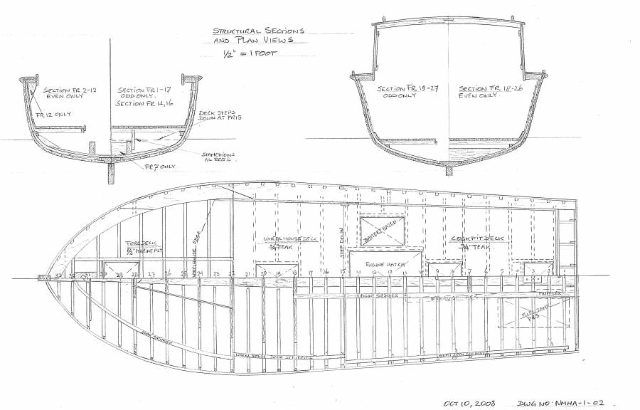 Jersey Skiff Drawing
